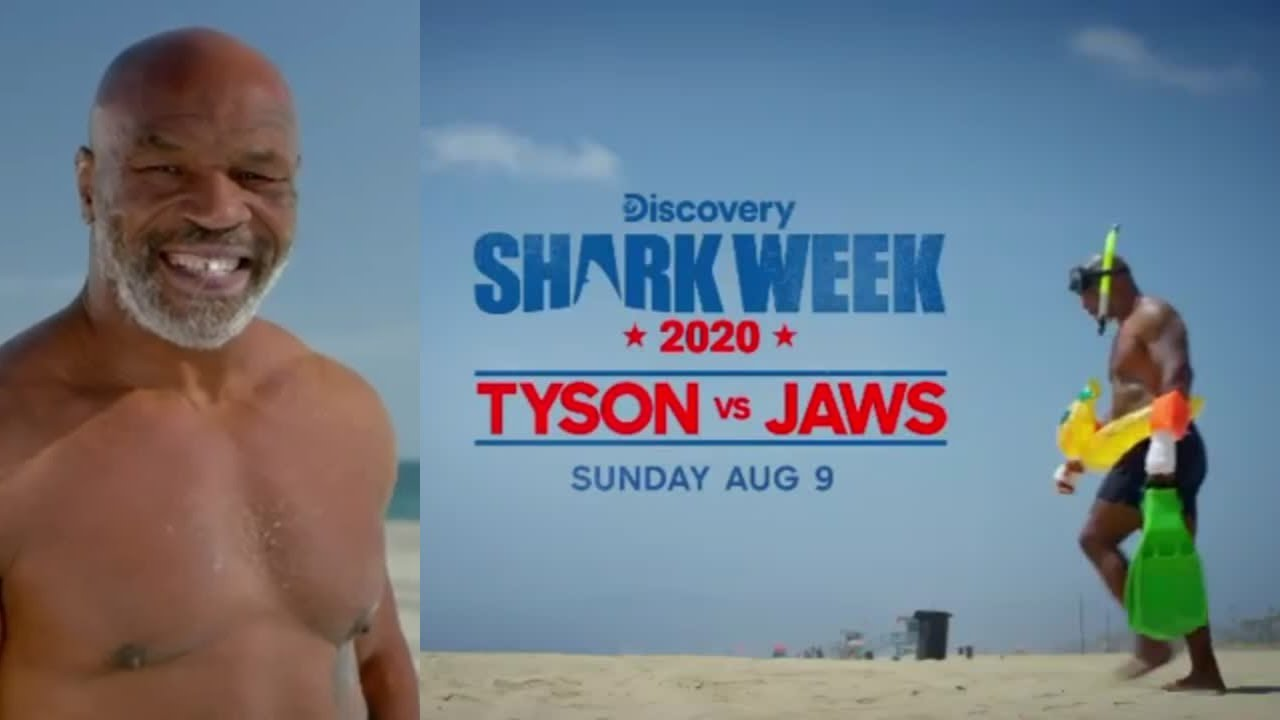 HustleTV Mike Tyson appears on the kick off of 'Shark Week' DJ Hustle