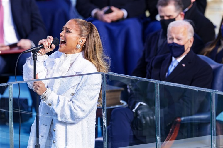 HustleTV.tv HustleTV DJ Hustle Jennifer Lopez Performs At President Biden's Inauguration